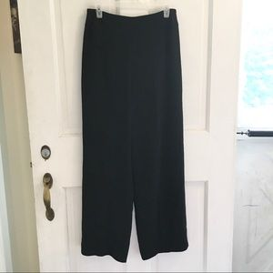 TALBOTS Black Wide Leg Career Pants SZ 8